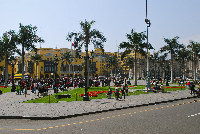 Plaza de Armas no Centro Histórico de Lima