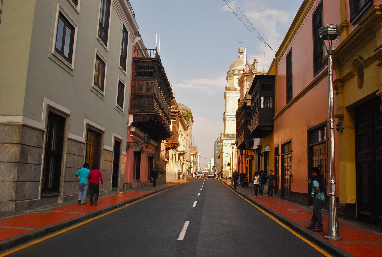 Rua Ica Ucayali no cento de Lima