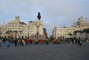 Plaza San Martin, em Lima, Peru