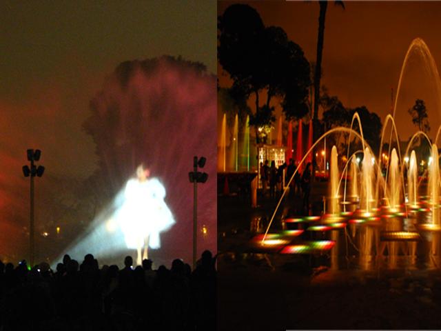 Cirguito Magico de las Aguas, Lima, Parque das Aguas, Show das Fontes