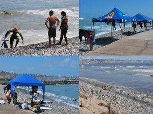 As praias da cidade de Lima são todas de pedras, mas tem movimento o ano todo. Escolas de surf e surfistas aproveitam as ondas.
