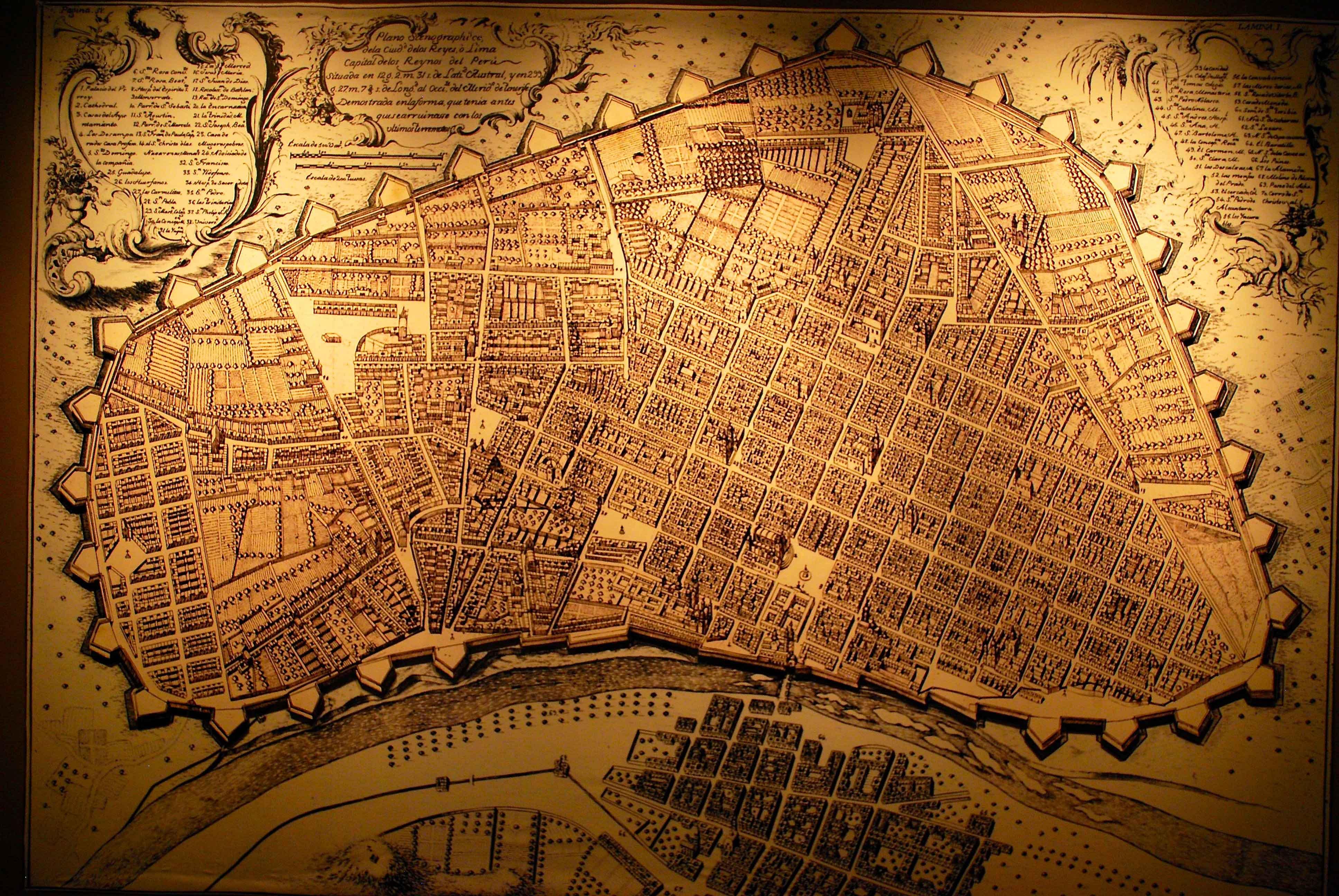 Mapa de Lima antiga
