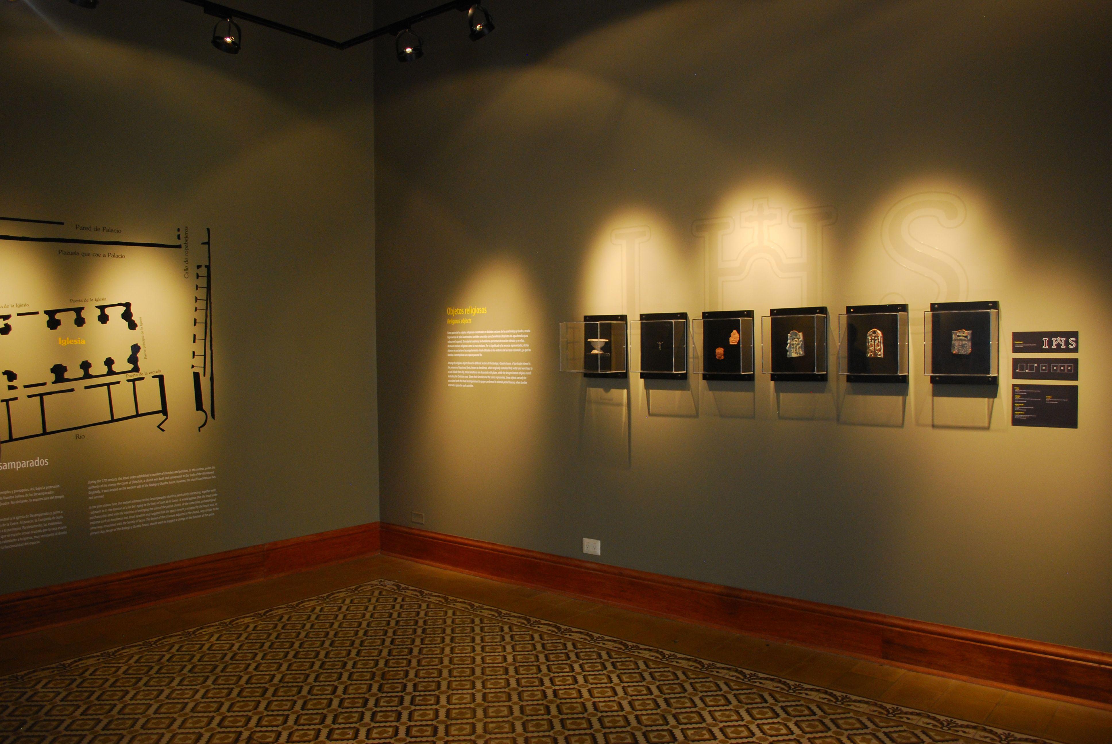 cerâmicas encontradas nas escavações do Museo Bodega y Quadra