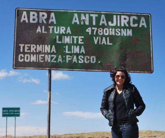 Placa de altura em Cerro de Pasco