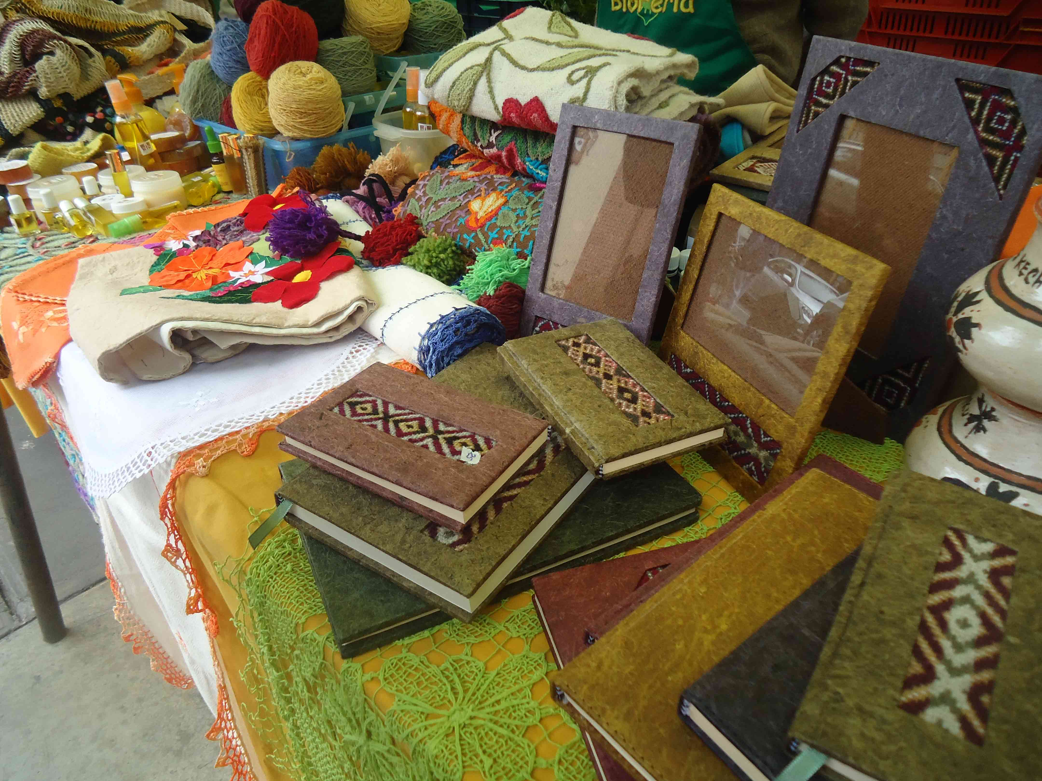 Produtos artesanais da Feira Orgânica de Miraflores