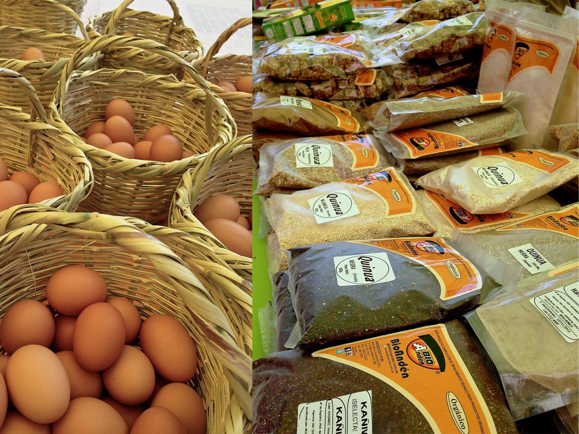 Grãos vendidos na Feira Orgânica de Miraflores