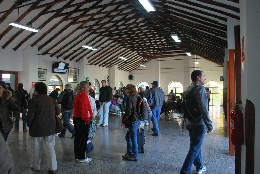 Estação de trem de Poroy, em Cusco.