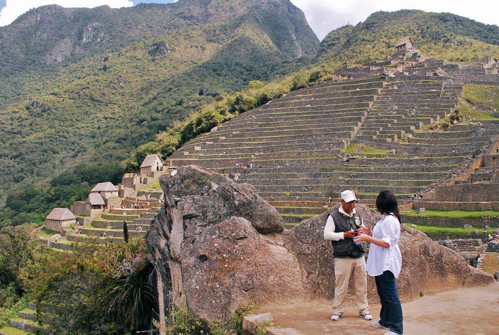 Guia em Machu Pichu, Peru