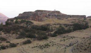 Tambomachay, na região de Cusco, Peru