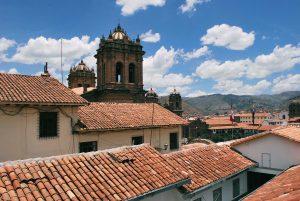 Vista de Cusco pelo mirante de San Bras