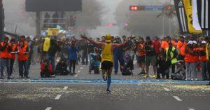 Chegada maratona de Lima