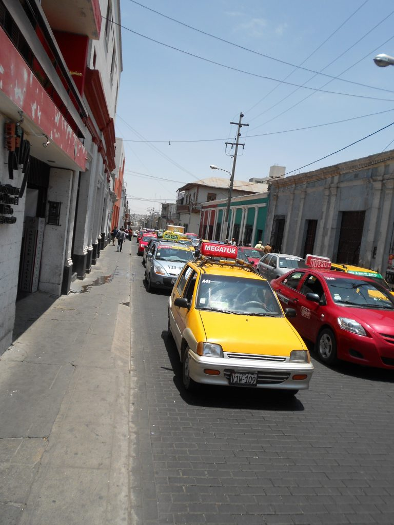 Taxis em Arequipa