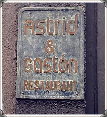 Placa restaurante astrid y gastón