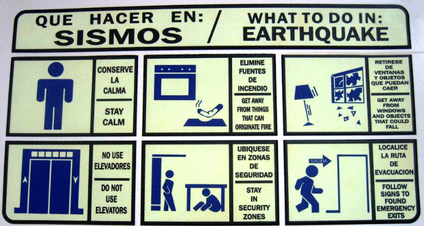 orientações do que fazer em caso de sismos