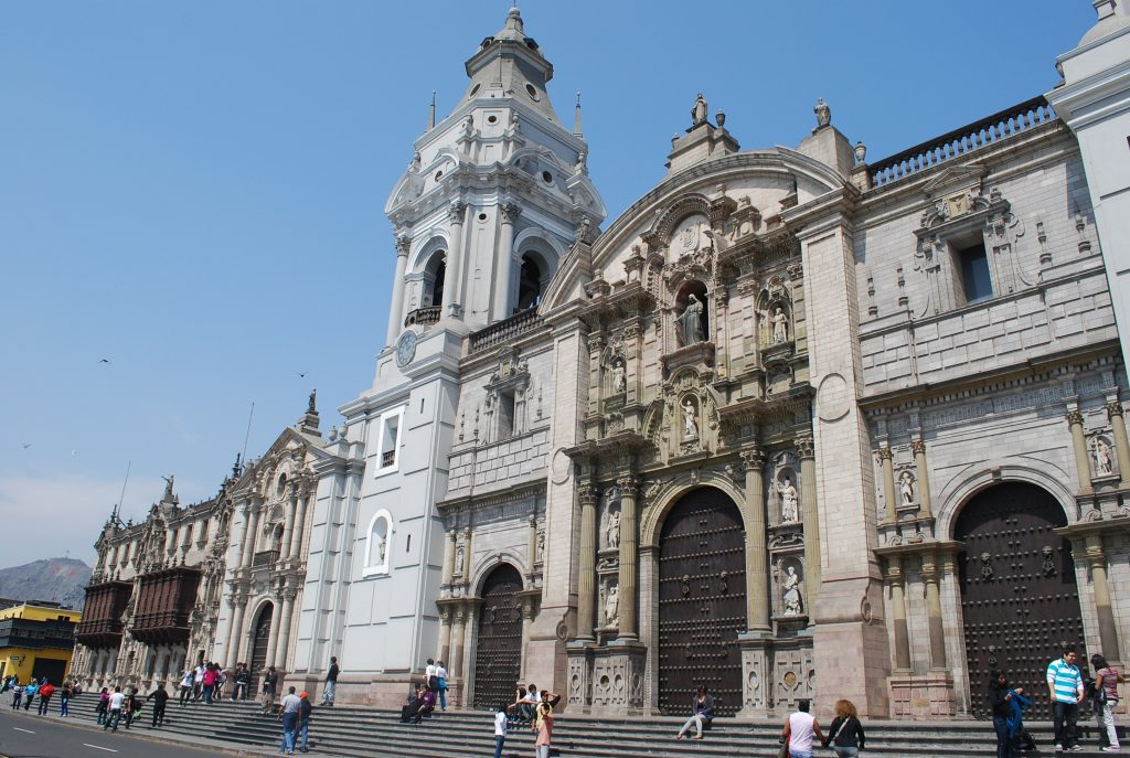 Catedral no Centro Histórico de Lima, no Peru.