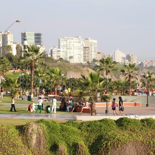 Malecón em Lima, no Peru