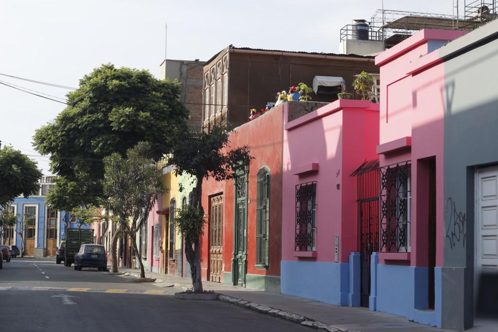 Casas de ruas do bairro do Barranco, em Lima, Peru.