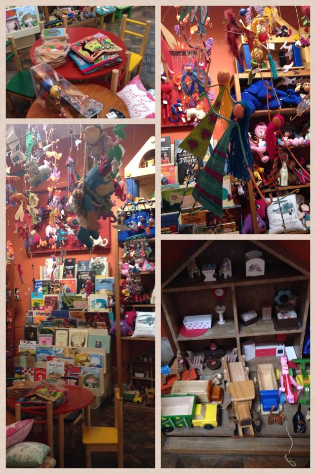 Existe uma sala somente com produtos pra crianças, desde roupas de algodão peruano, passando por livros e brinquedos educativos até mobília para sala de jogos dos pequenos
