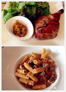 Pratos principais servidos no restaurante LA 73