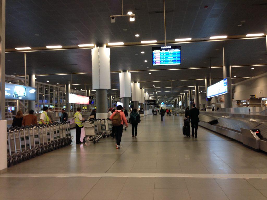 Sim, esse é o local de retiro de bagagens do aeroporto de Bogotá