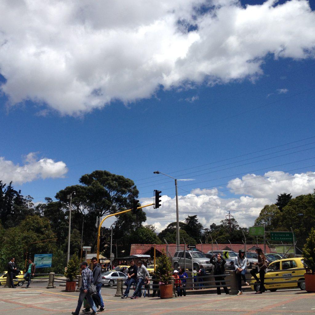 Céu incrível de Bogotá