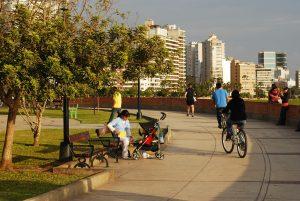 Malecón em Miraflores.