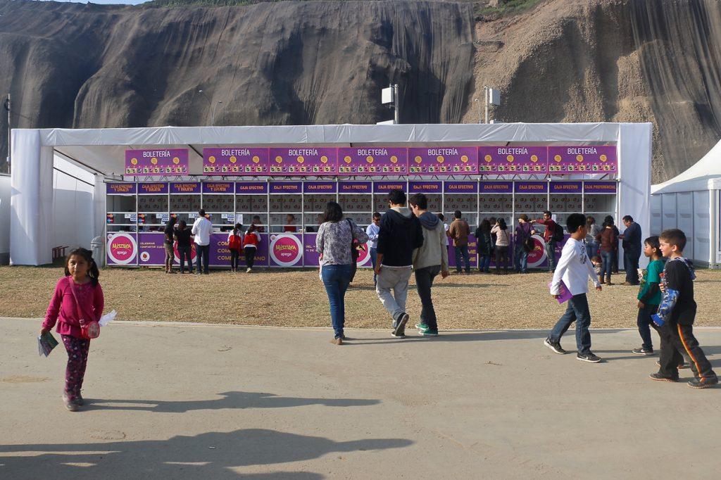 Bilheteria pra venda dos tickets pra consumo interno no Mistura