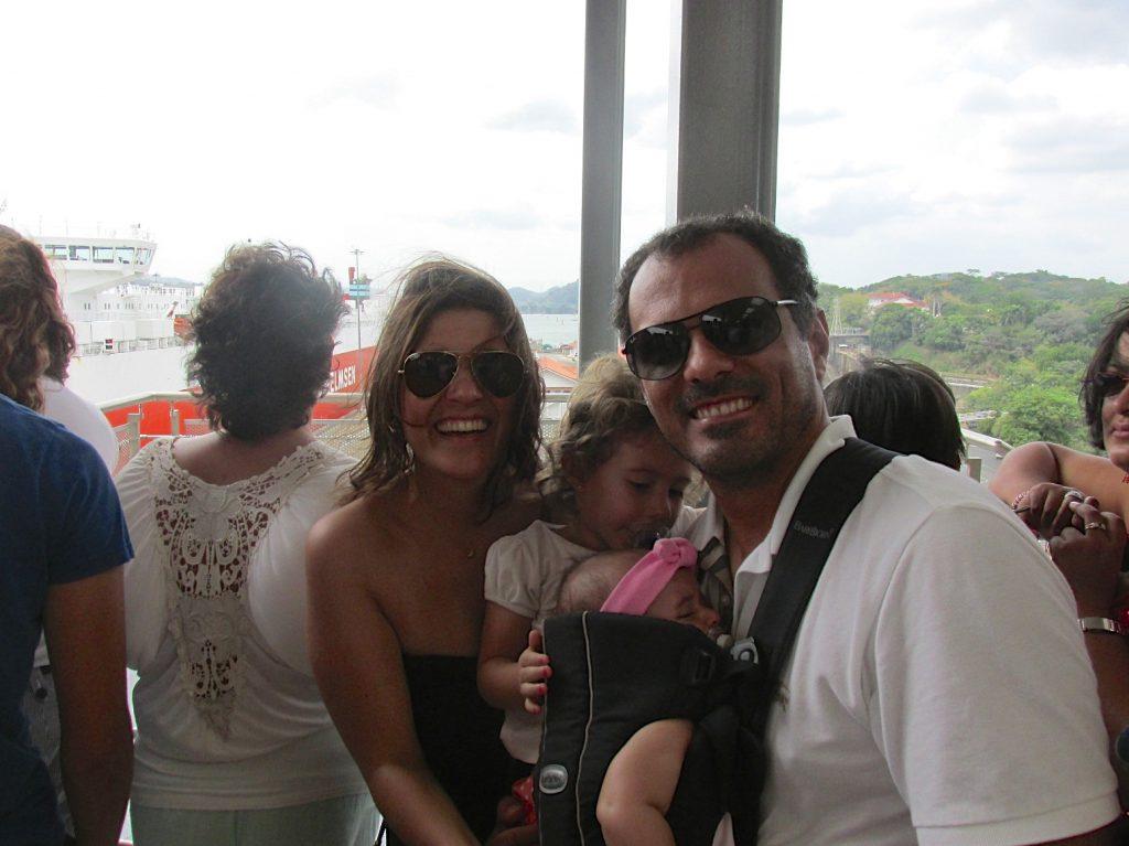 Visitando a Canal do Panamá.