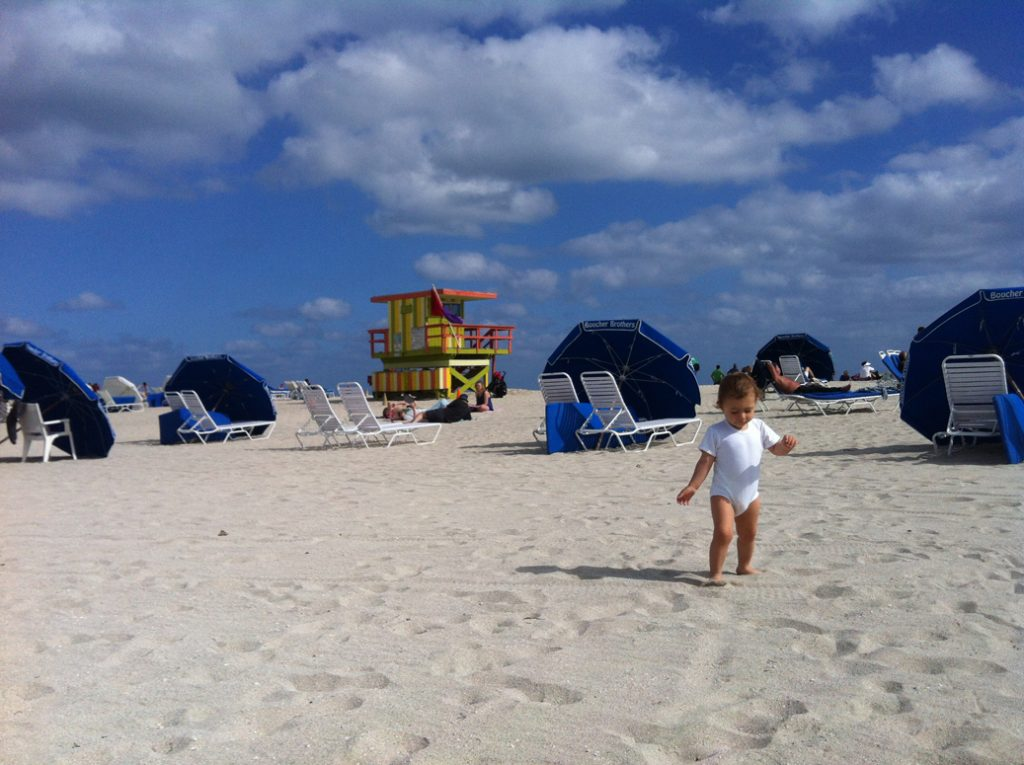 Olivia curtindo Miami Beach...