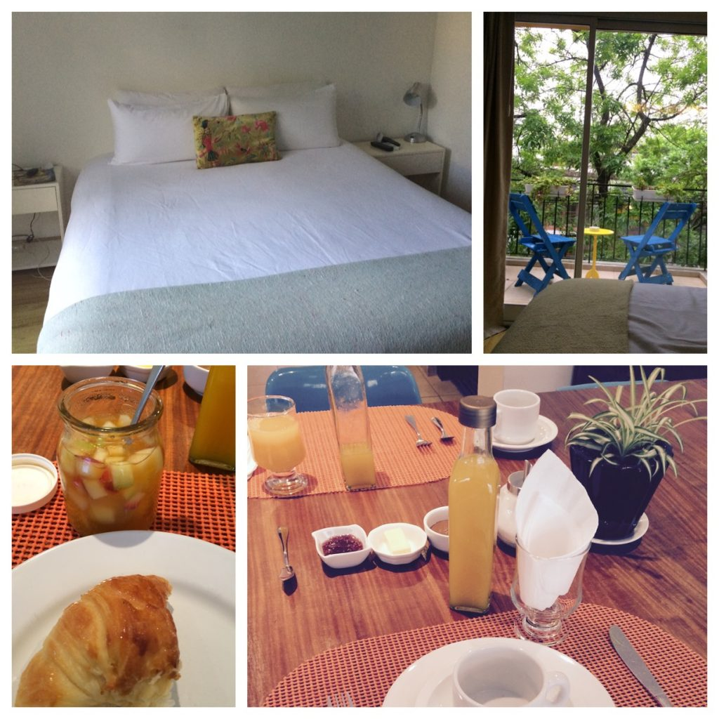 Quarto e café da manhã do Hotel Querido