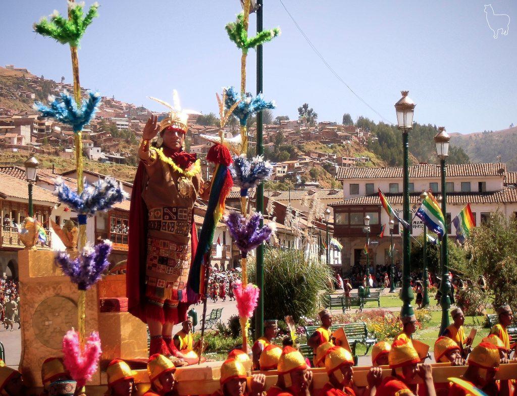 Inti Raymi em Cusco no Peru.