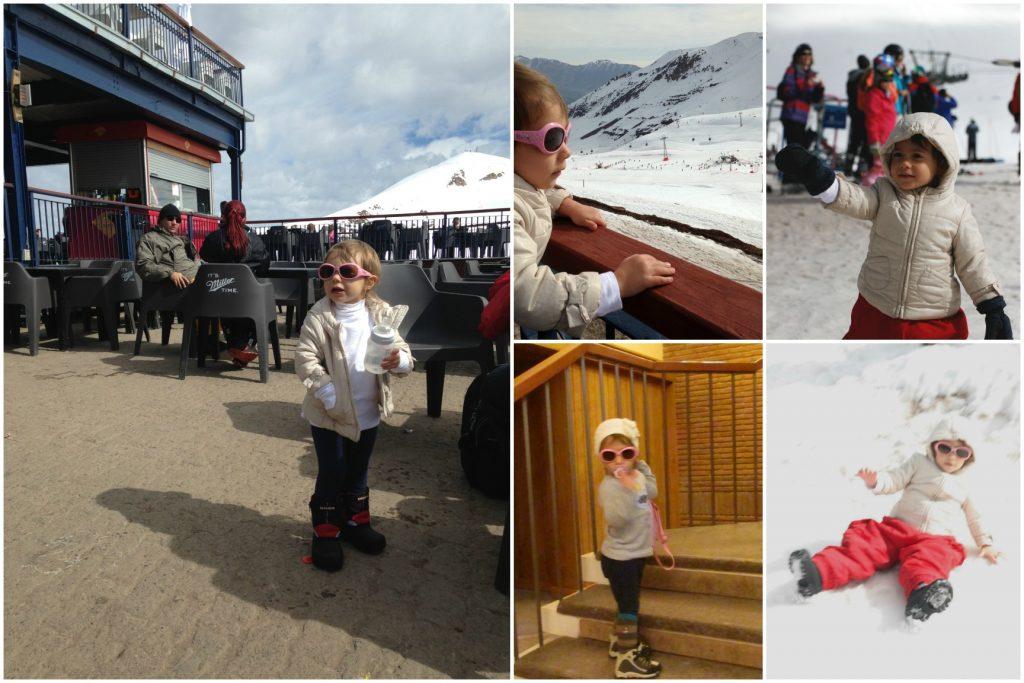 Olivia em Valle Nevado.