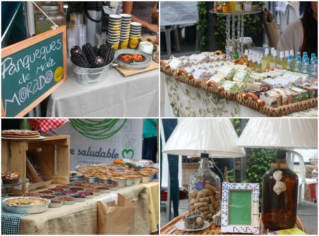 Variedades de produtos disponíveis no Eco market