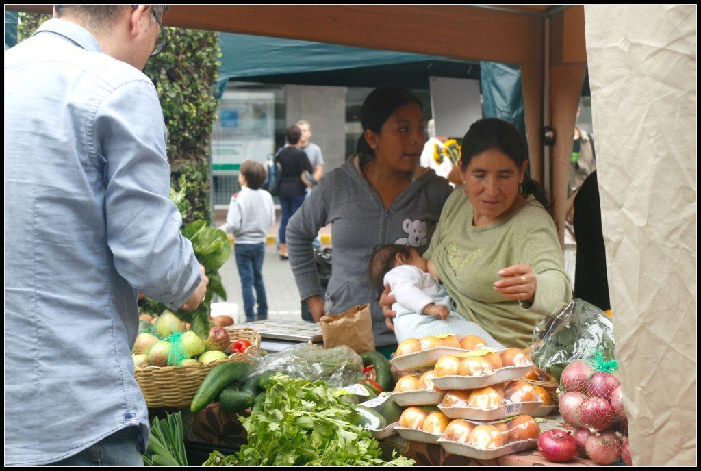 Além das delícias que você pode comer ali na hora, encontramos também  legumes e verduras orgânicos à venda