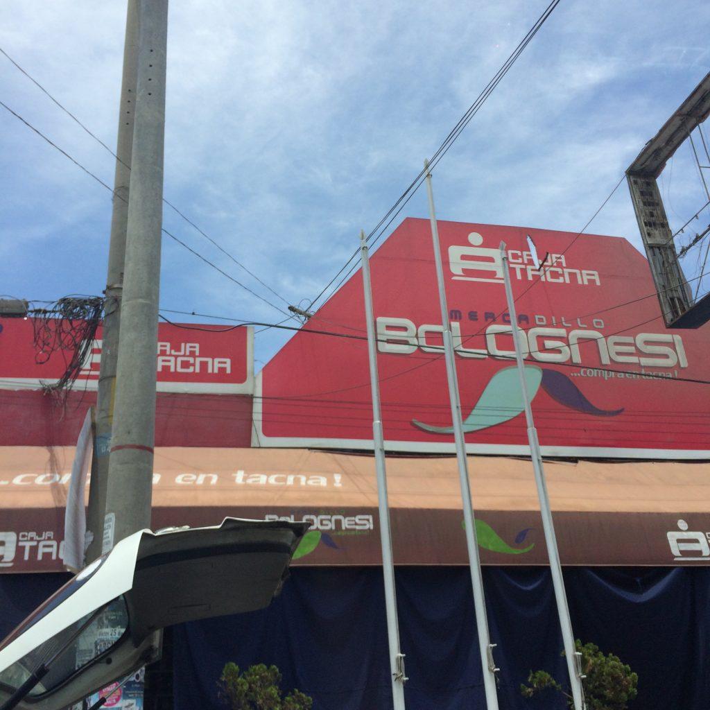 Fachada Mercado Bolognesi em Tacna